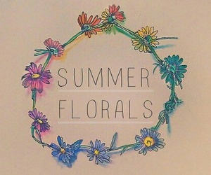 floral, summer, and flowers image
