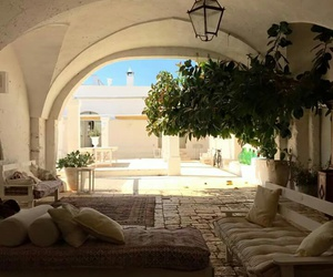 garden, house, and italy image