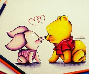 baby, piglet, and winnie the pooh image