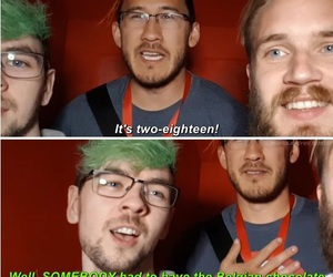 pewdiepie, markiplier, and jacksepticeye image