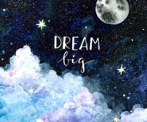 Dream, stars, and moon image
