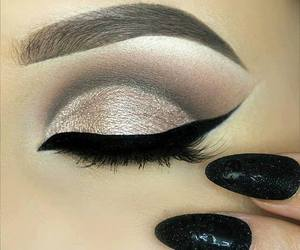 make up, fashion, and makeup image