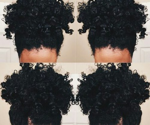 curly hair, natural hair, and hair goals image