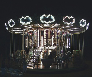 carousel, lights, and spain image