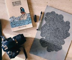 art, summer, and zentangle image