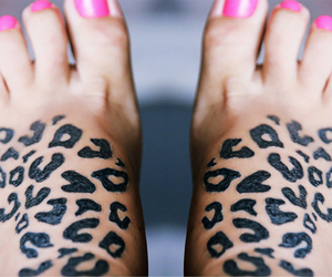 pink, tattoo, and nails image