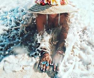 beach, boho, and summer image
