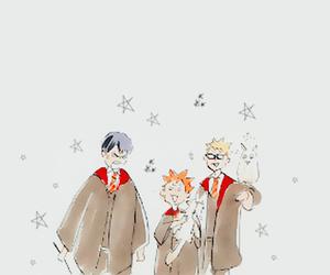 poudlard, tsukishima, and haikyuu image