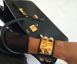 fashion, hermes, and black image