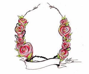 desenho, drawing, and flor image
