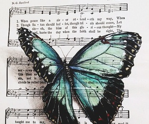 art, music, and butterfly image