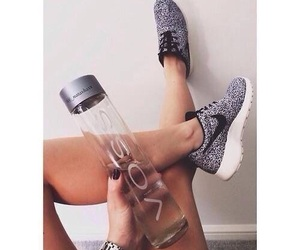 girl, shoes, and voss image
