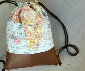 bag, map, and tasche image