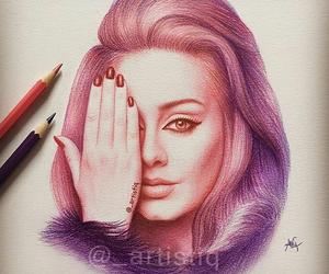 Adele, art, and singer image
