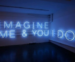 imagine, neon, and light image