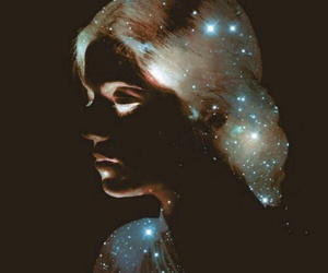 girl, stars, and art image