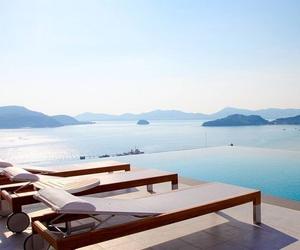 hotel, sea, and luxury image