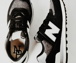 black, shoes, and new balance image