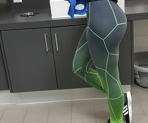 adidas, fitness, and green image