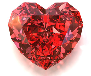 heart, diamond, and red image