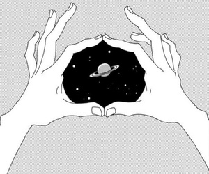 hands, tumblr, and space image