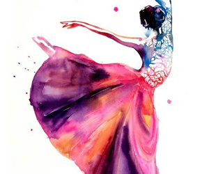 dance, art, and colorful image