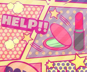 wallpaper, comic, and pink image