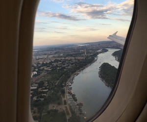 plane, Serbia, and travel image