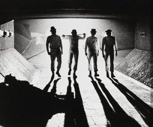 clockwork orange, a clockwork orange, and black and white image