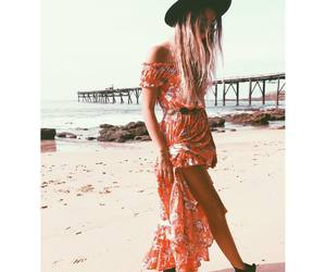 beach, blonde, and chic image