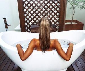 bath, brunette, and youtuber image