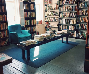 books, library, and living room image