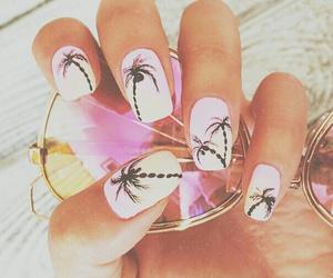 nails, summer, and pink image