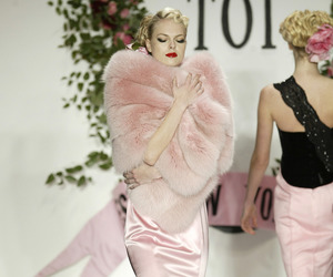 gown, runway, and pink image