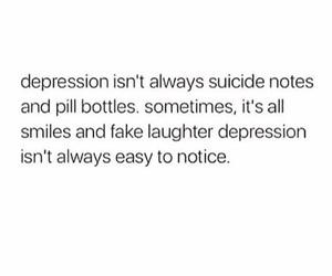 broken, depression, and fake smile image