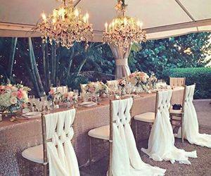 wedding, luxury, and decoration image