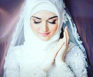 girl, hijab, and white image