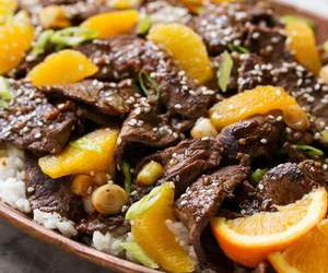 beef, chinese, and delicious image