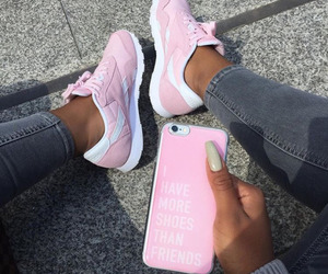 pink, shoes, and iphone image