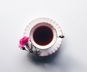 coffee, flowers, and photographs image