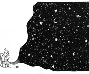 stars, drawing, and illustration image