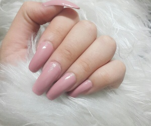 fashion, nail, and pink image