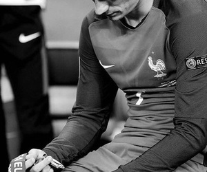 antoine griezmann, griezmann, and black and white image
