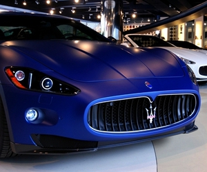 luxury, blue, and car image