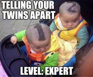 funny, twins, and baby image