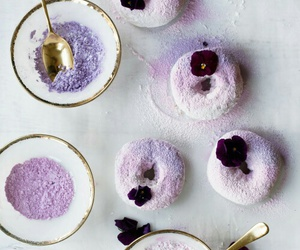 donuts, lavender, and purple image