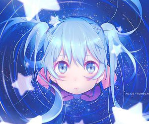 vocaloid, hatsune miku, and stars image
