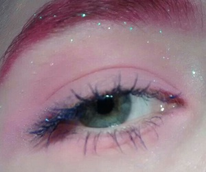 pink, eyes, and aesthetic image