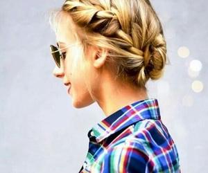 blonde, bun, and girl image