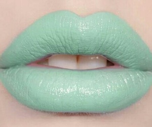 lips, mint, and lipstick image